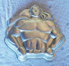 VTG SUPERMAN DC COMICS Batman Super Hero -  1977 WILTON Cake Pan Baking Mold