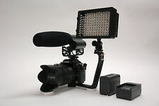 Pro VM XL-12L DSLR stereo shotgun video mic light F970 for Canon 80D 70D 60D 7D