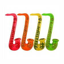 BLOW UP INFLATABLE SAXOPHONE POOL BEACH TOY FANCY DRESS GIFT PARTY BAG FILLER