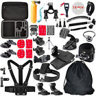 50 in 1 Head Chest Strap Mount  Accessories Kits for GoPro 4/3+/3/2/1 Camera Set