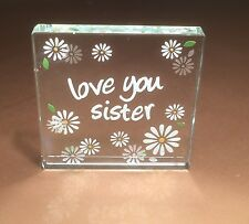Spaceform Love You Sister Glass Token Gift Ideas for Her Sisters Birthdays 1419