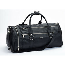 HEAD Contemporary Monte Carlo Faux Leather Holdall, Black .30% off RRP of £55.00