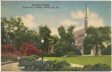 Harbison Chapel at College in Grove City PA Postcard