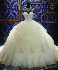 2017 Hot Luxury Ball Gowns Wedding Dresses Sweetheart Custom Size Bridal Gowns