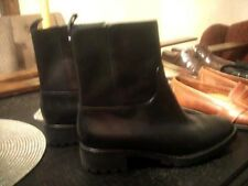 Cole Haan Women's Ellison Short Waterproof Boots Black Leather Size 9 M