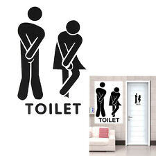 Funny Toilet Entrance Decal Sticker Sign For Bar Pub Cafe Shop Office Home Decor