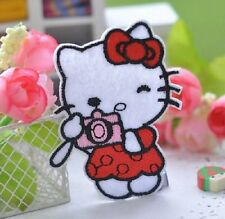 HELLO KITTY (STYLE #4) EMBROIDERED SEW OR IRON ON APPLIQUE PATCH More Styles Too