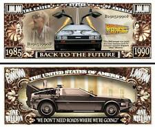 RETOUR VERS LE FUTUR BILLET MILLION DOLLAR! Collection Doc McFLY DELOREAN DMC-12