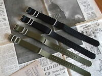 Nato G10 Zulu Military Diving Nylon Watch Strap 18mm 20mm 22mm 24mm