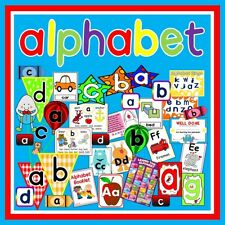 *CD* ALPHABET TEACHING RESOURCES FLASHCARDS POSTERS ACTIVITIES LETTERS ABC
