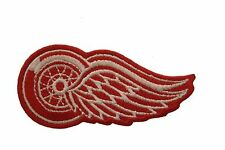 "DETROIT RED WINGS NHL LOGO IRON-ON PATCH CREST BADGE ..SIZE 3"" X 1 1/2"" INCHES"