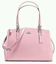 NWT COACH CHRISTIE Crossgrain Leather Carryall Satchel Crossbod 36606 PETAL PINK