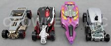 Hot Wheels Shift Kicker Bone Shaker Bilge Rats XT-3 & Salt Flat Racer RR Cyborg