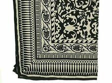 Cejon Baroque Print Square Women's Scarf  Wrap Black & Ivory MSRP $34