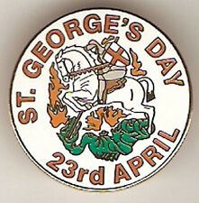 ENGLAND ST GEORGE'S DAY APRIL 23rd LOYALIST WHITE ROUND FOOTBALL BADGE