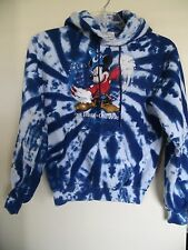 "Disney ""Four Parks One World"" Tie Dye Style Blue Pullover Hoodie Size Small"