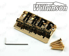 Wilkinson 4 string Bass bridge vintage style WBBC4, brass saddle, gold