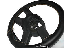 REAL ITALIAN LEATHER STEERING WHEEL COVER FITS 07-12 DODGE NITRO BEIGE STITCHING