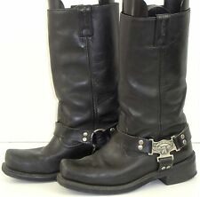 Mens Harley Davidson Eagle Harness Leather Motorcycle Boots Square Toe Black 9