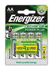 Energizer AA 2000 mAh Pilas Recargables Power Plus HR06 NiMH (4 Pack)