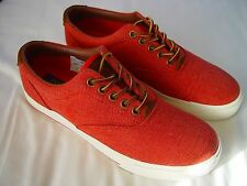 Ralph Lauren Polo Red Canvas & Leather Deck Shoes - UK Size. 7