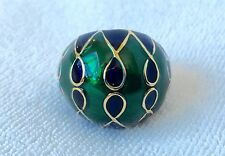 BANANA REPUBLIC JEWELRY Green + Blue Enamel Gold Cocktail Ring Sz 6 + 7 NEW