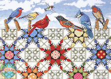 Cross Stitch Kit ~ Design Works Feathered Stars Quilt & Perched Birds #DW2719