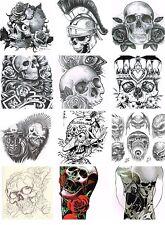 Tattoovorlagen Skull Cd Flash motive 1474 Totenkopf Biker Schädel Skelett  Neu