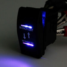 12V Waterproof Bar Rocker Switch Blue LED Winch In Out Momentary Sales