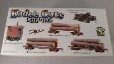 Kadee #102 - HO Scale 42' Skeleton Log Car Kit w/logs - New - XTRAINS