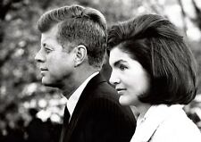 President John F Kennedy and Jackie Onassis BW #3 Poster