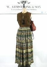 Women's VINTAGE 70s Gypsy Maxi Eastern Indian Skirt Cotton BOHO Traveller UK M