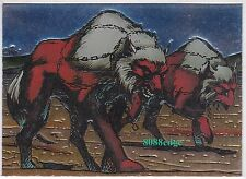 "1995 INTREPID ""PITT""ASHCAN CHARACTER CARD: CREED BATTLE HOUNDS #C3 EMBOSSED FOIL"