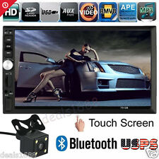 "7"" Bluetooth HD Touch Screen 2DIN Car Audio Stereo MP5 MP3 Radio + Camera 2017"