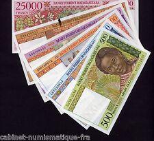 MADAGASCAR LOT DE 6 BILLETS NEUFS