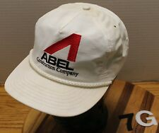 VINTAGE ABEL CONSTRUCTION KENTUCKY HAT WHITE ADJUSTABLE GOOD CONDITION