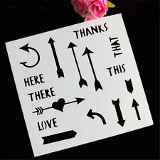 Arrow Pattern Paper cutting Stencil for art craft spray cake and Home decor