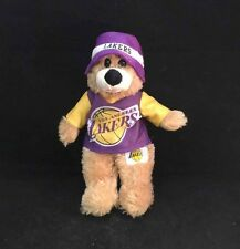 NBA Los Angeles LARKERS Stuffed Plush Teddy BEAR w/ Purple Yellow Jersey Hat