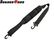 1000D Nylon Padded Strap with Double Hooks for Bag Pouch Black