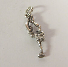Ice Skater Charm Pendant .925 Sterling Silver USA Made Girl Spin Sport Jewelry
