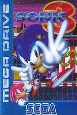 # completo come nuovo: SEGA MEGA DRIVE-Sonic the Hedgehog 3/MD gioco #