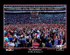 2014 OLE MISS REBELS VS ALABAMA CRIMSON TIDE FOOTBALL ART S/N PRINT