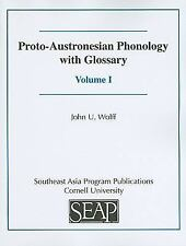 Yale Linguistic: Proto-Austronesian Phonology with Glossary Set by John U....