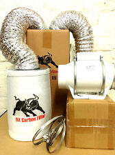 """carbon filter fan kit extractor 125mm inline 5"""" grow tent set hydroponics"""