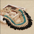High Fashion Jewelry Pendant Chain Crystal Choker Chunky Statement Bib Necklace