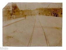 B543 Photo vintage Original Suisse Genève le pont et la rue du Mont Blanc 1906