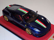 1/18 Looksmart MR Ferrari F430 Scuderia Blue Tour de France Italian Stripe Gold