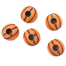 250x Wholesale Orange Copper Basketball Jewellery Beads Charms Findings 11mm LC
