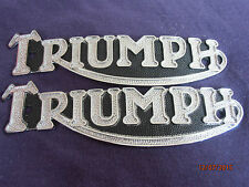 TRIUMPH  T110 Thunderbird tank badges, new best quality, from Domi Racer  (pair)