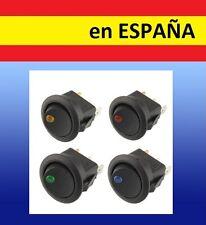 INTERRUPTOR DE LUZ de 12V boton encendido apagado corriente lampara COLORES LED